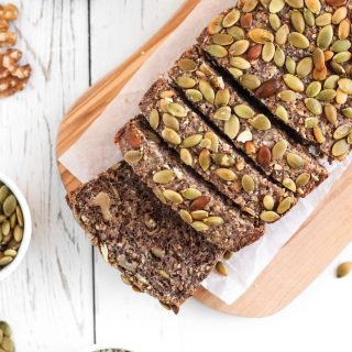 Superfood Bread - Healthful gluten-free and vegan bread, high in fiber