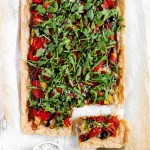 Gluten-Free Puff Pastry Pepper Onion Pie