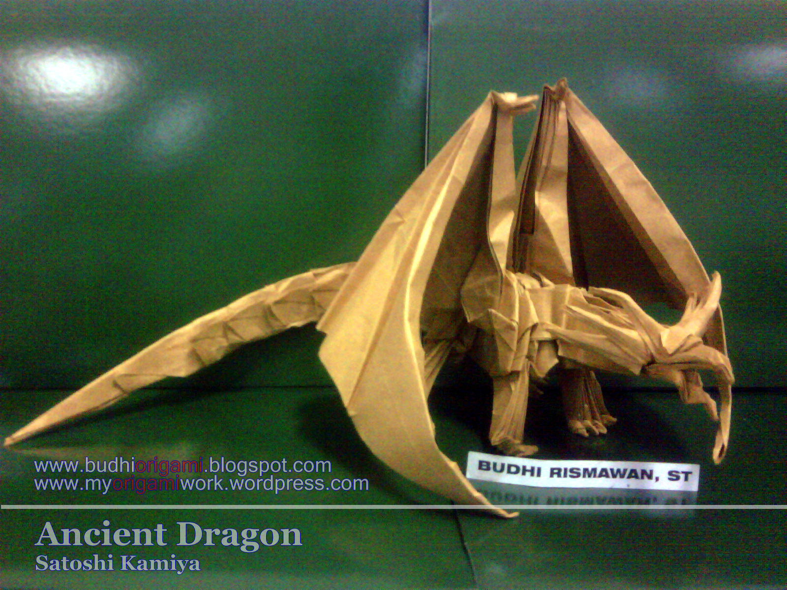 satoshi kamiya diagram of the formation a waterfall ancient dragon  myorigamiwork