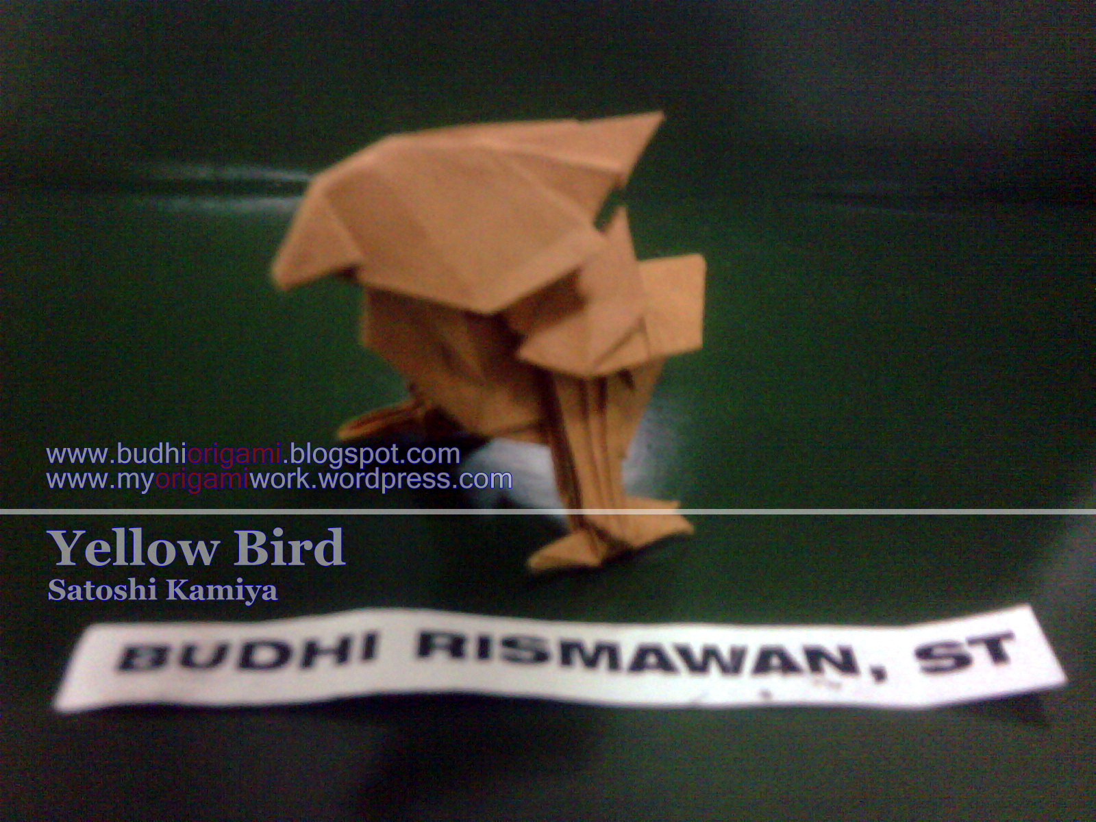 satoshi kamiya diagram external regulator alternator wiring yellow bird  myorigamiwork