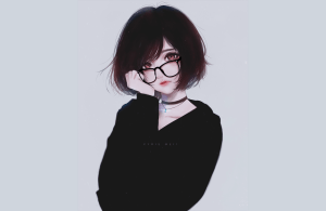 cute anime grils ith glasses