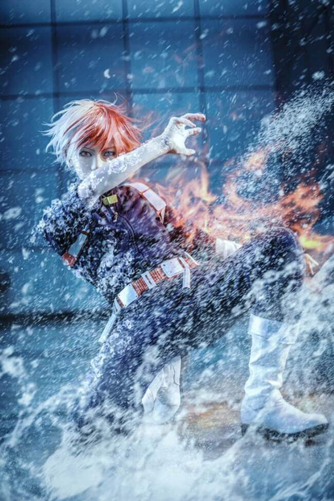Shoto Todoroki cosplay