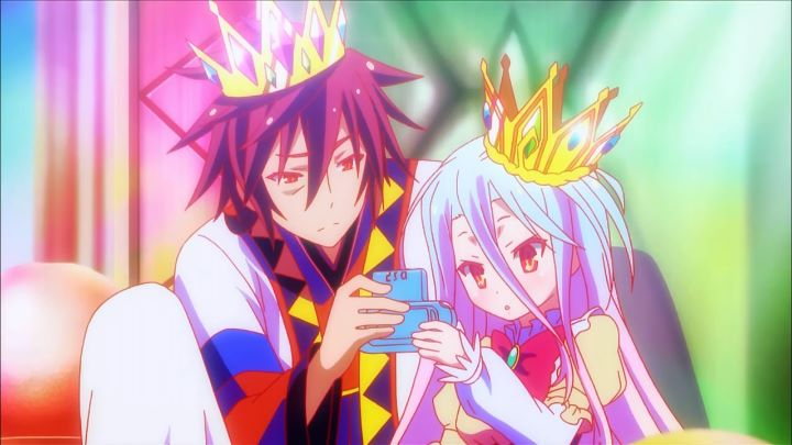 No Game No Life anime about games
