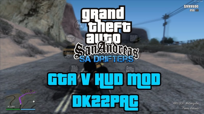 GTA V Hud for San Andreas