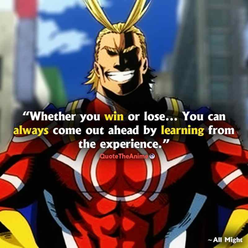 Whether you win or lose, you can always come out ahead by learning from the experience.