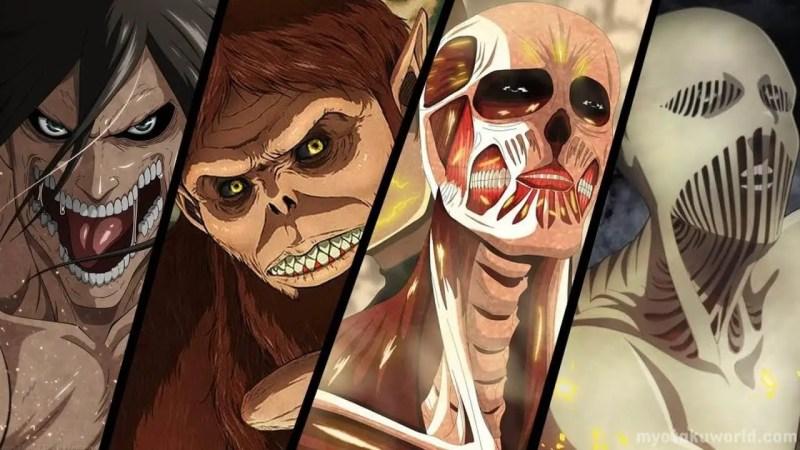 9 Titans of Attack on Titan