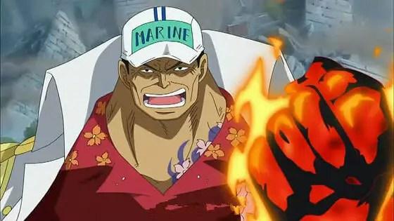 Sakazuki-san a.k.a Akainu (Red Dog)