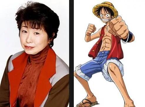 Straw Hat Luffy voiced by Tanaka Mayumi
