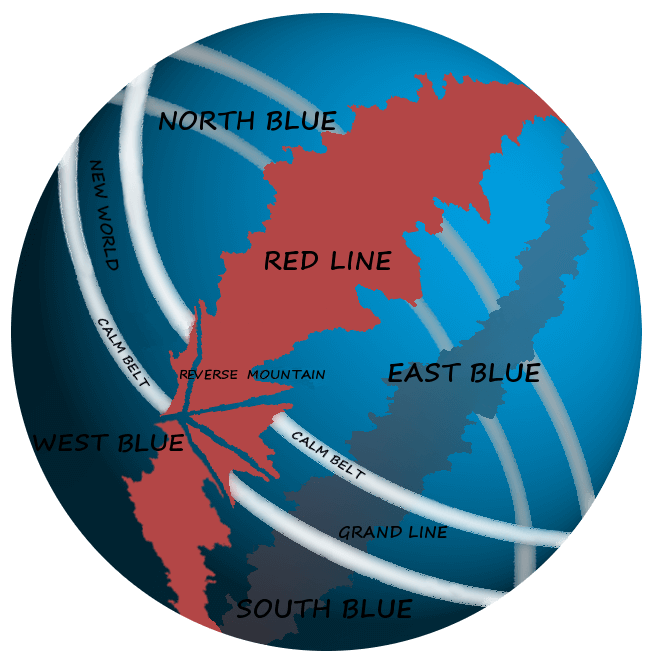 one piece map The Red Line