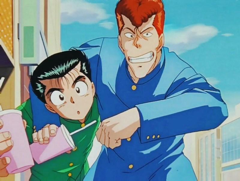 Yusuke and Kuwabara From Yu Yu Hakusho