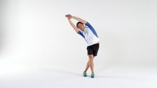 lat stretch, post running tip