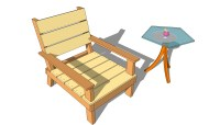 outdoor wood patio chair plans | woodideas