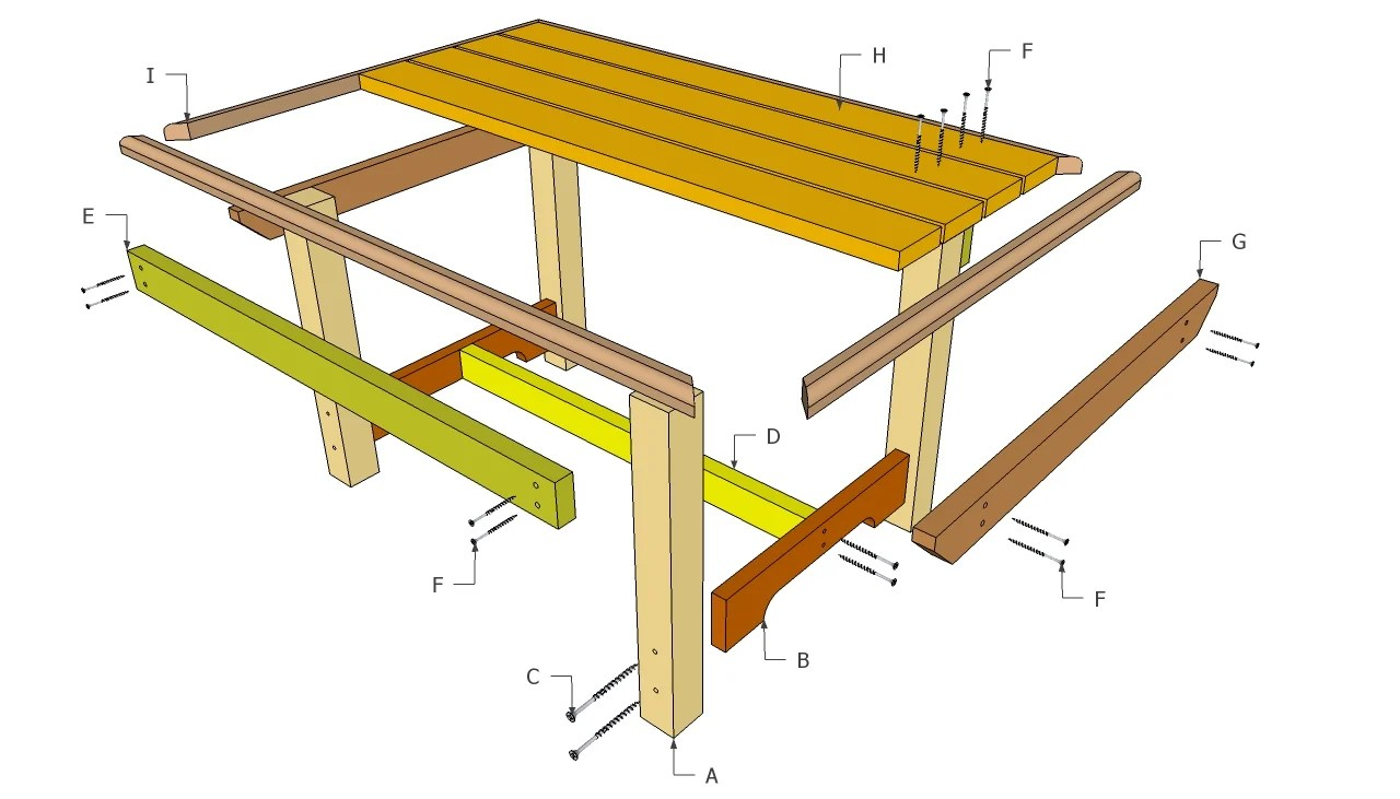 Outdoor wood table plans -  Table Downloadplans How To Build Outdoor Wood Furniture L Share Woodworking Plan