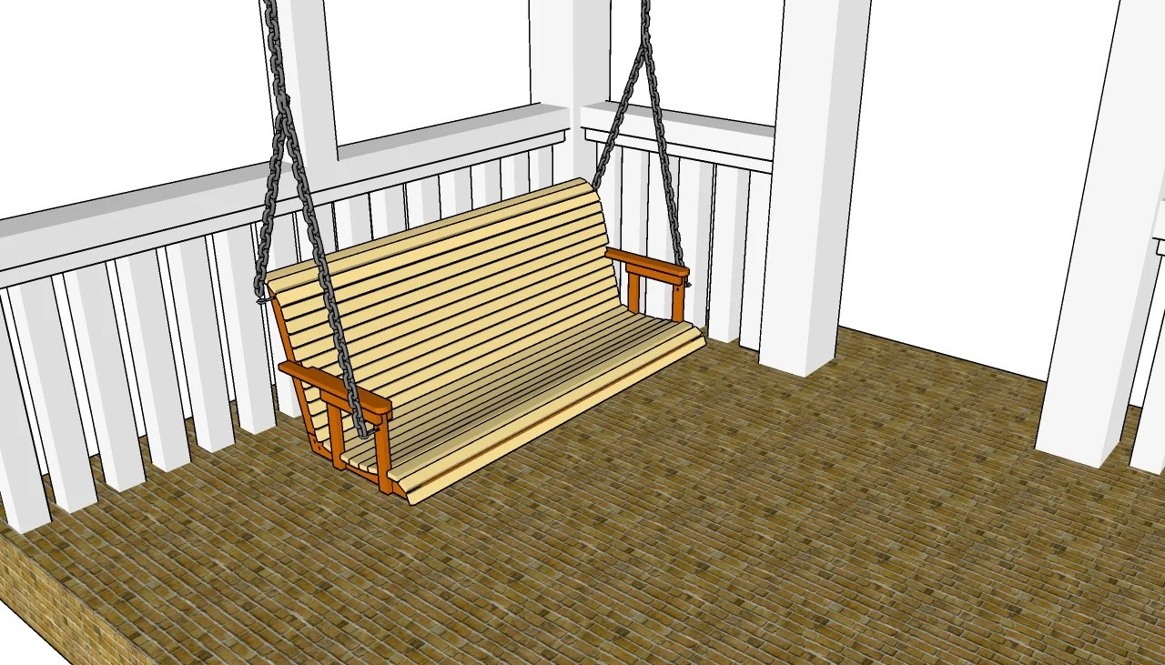 hight resolution of porch swing plans free