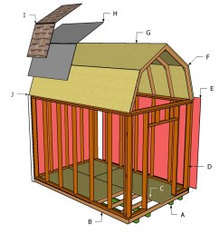 free gambrel shed plans [ 1280 x 712 Pixel ]
