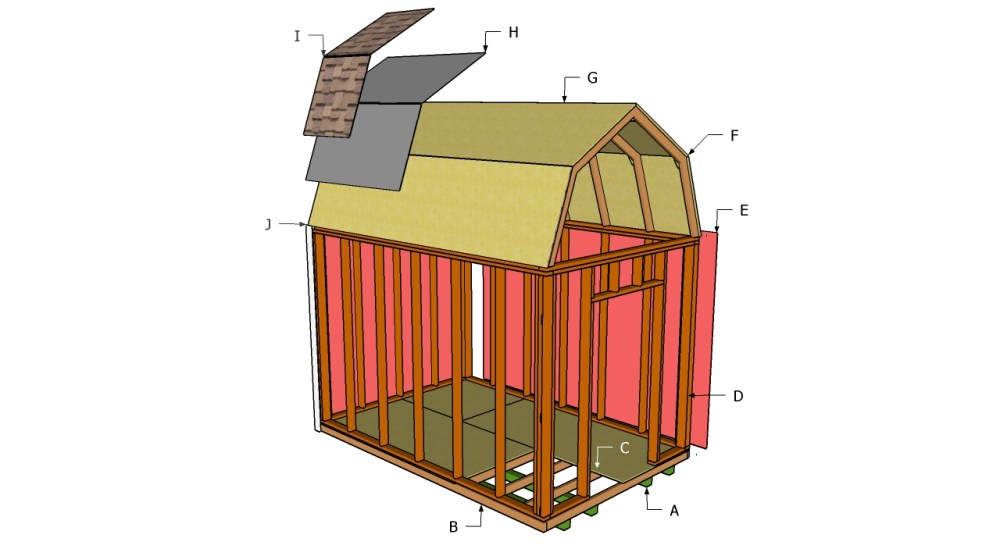 medium resolution of free gambrel shed plans