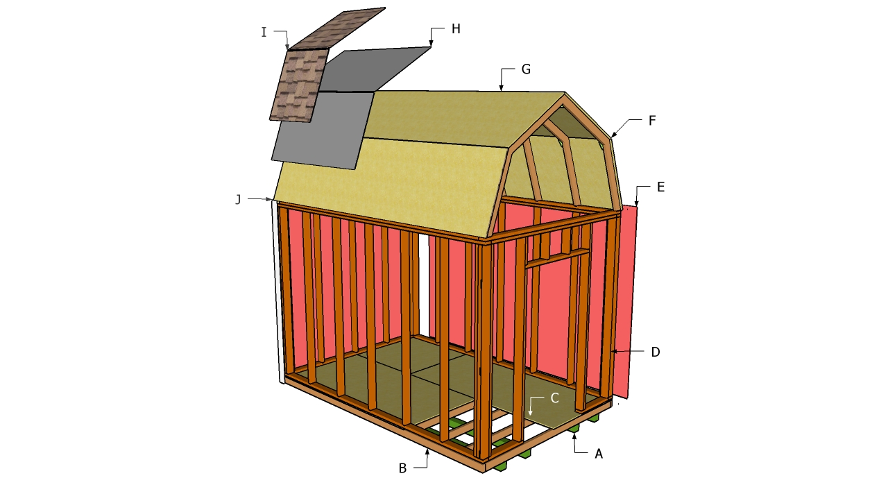 hight resolution of free gambrel shed plans