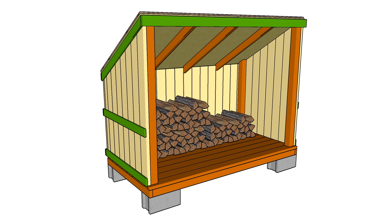 Build DIY Plans for a wood storage shed PDF Plans Wooden