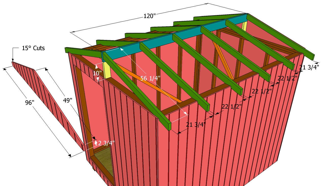 Building A Shed Roof Myoutdoorplans Free Woodworking Plans And Projects Diy Shed Wooden Playhouse Pergola Bbq