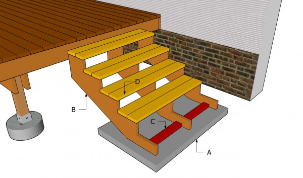 how to build wood deck stairs
