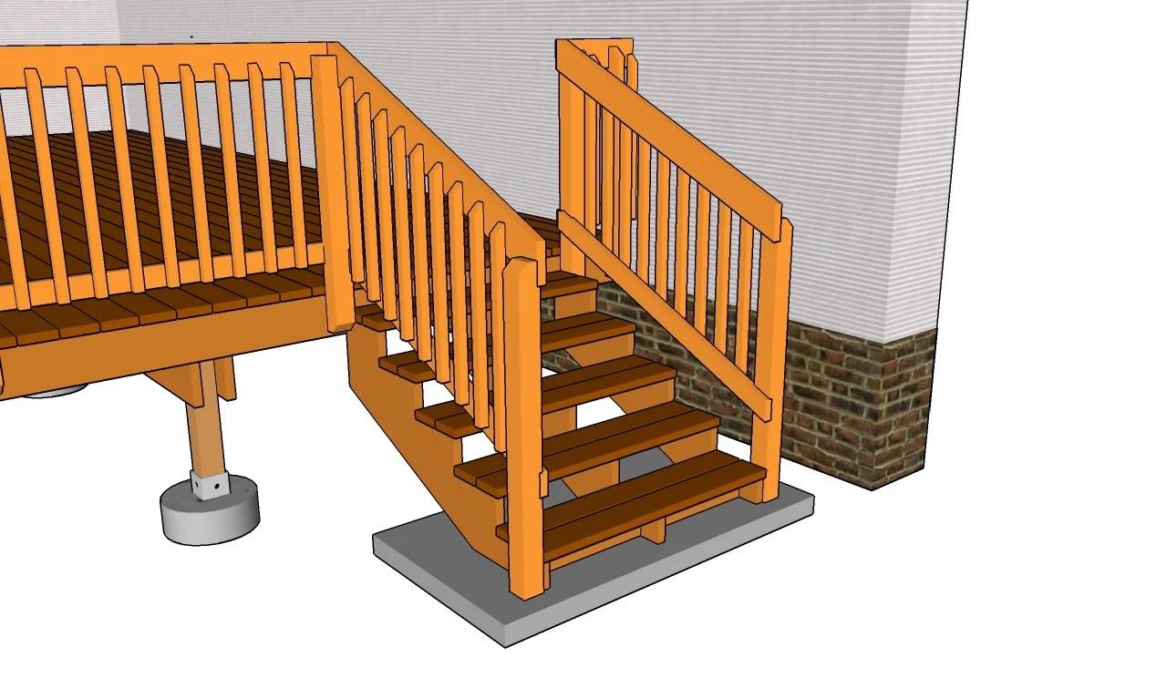 Deck Stairs Plans Myoutdoorplans Free Woodworking | Outdoor Deck Stair Railing