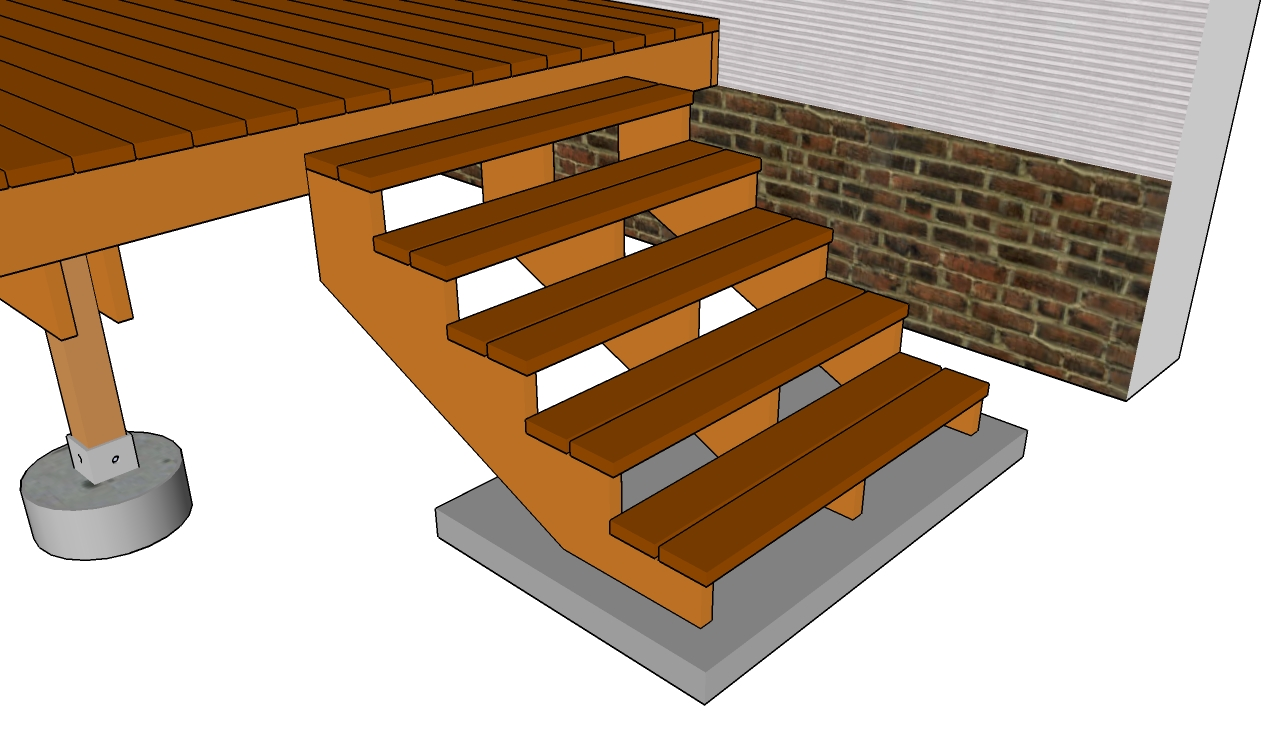 Deck Stair Railing Plans  MyOutdoorPlans  Free Woodworking Plans and Projects DIY Shed