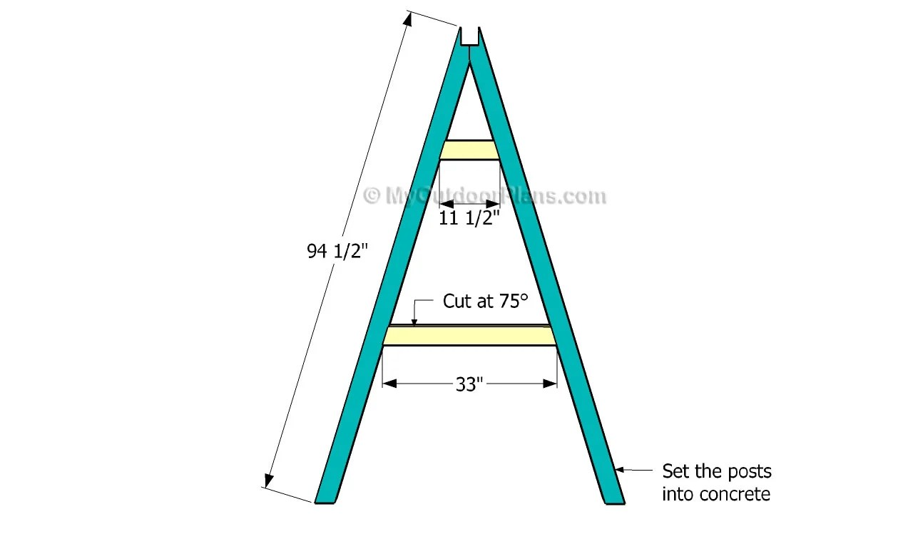 PDF Plans How To Build Wood A Frame Swing Download Diy Adirondack ...