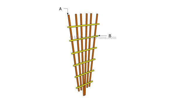 wood trellis plans