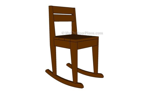rocking chair kids leather sitting plans myoutdoorplans free woodworking