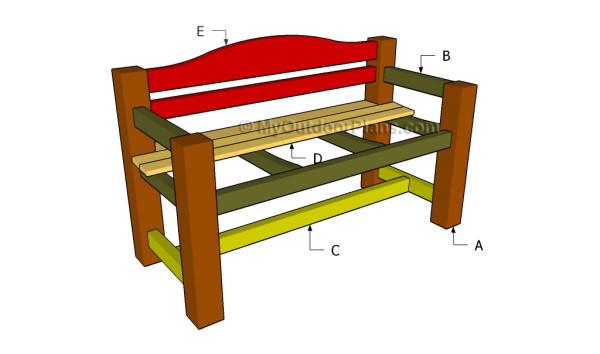 wood bench design plans