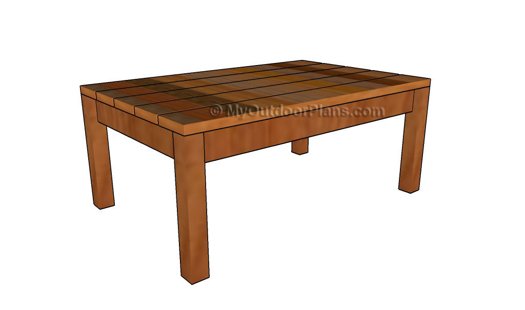 simple outdoor coffee table plans