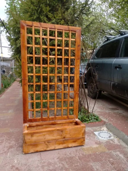 Flower Box With Trellis Myoutdoorplans Free