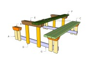 Picnic Table with Detached Benches Plans | MyOutdoorPlans ...