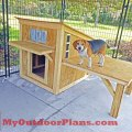 Diy dog house myoutdoorplans free woodworking plans and projects