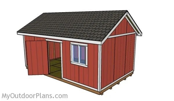 12x20 Shed Roof Plans MyOutdoorPlans Free Woodworking