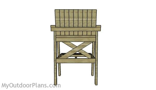how to build a lifeguard chair dorm covers diy plans myoutdoorplans free woodworking and