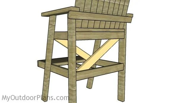 how to build a lifeguard chair pottery barn napoleon chairs plans myoutdoorplans free woodworking and fitting the braces