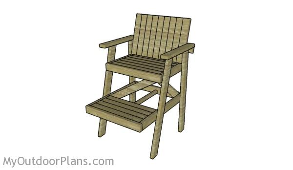 how to build a lifeguard chair bariatric lift plans myoutdoorplans free woodworking and