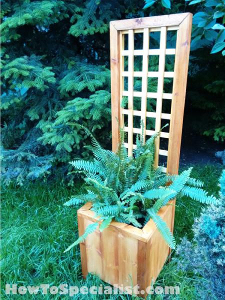 DIY Planter With Trellis MyOutdoorPlans Free