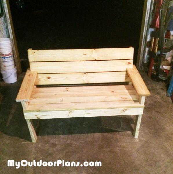 DIY Park Bench MyOutdoorPlans Free Woodworking Plans