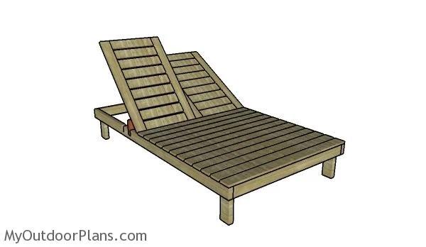 double chaise lounge plans