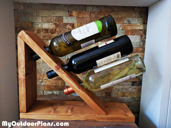 Diy Table Wine Rack Myoutdoorplans Free Woodworking