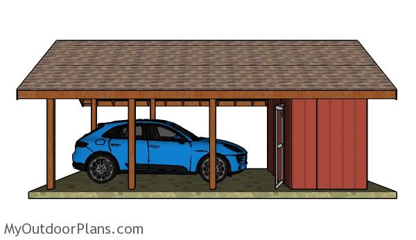 Carport With Storage Plans Myoutdoorplans Free Woodworking