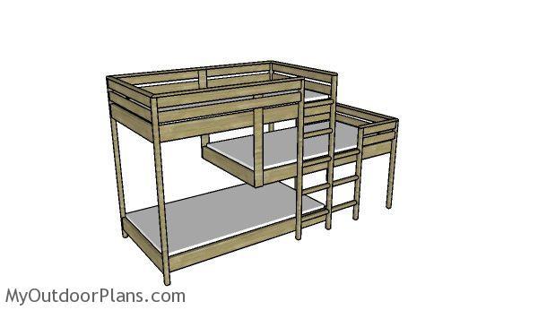 Triple Bunk Bed Plans Myoutdoorplans Free Woodworking