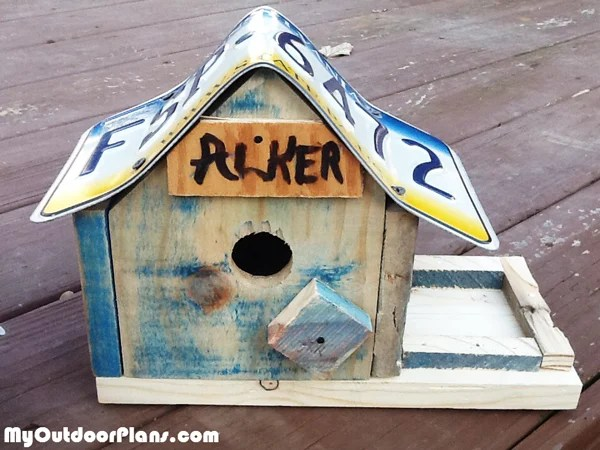 DIY License Plate Bird House  MyOutdoorPlans  Free Woodworking Plans and Projects DIY Shed
