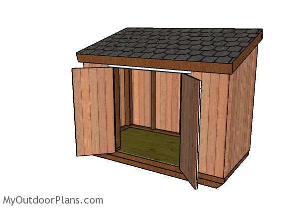 4x8 Short Shed With Lean To Roof Plans Myoutdoorplans