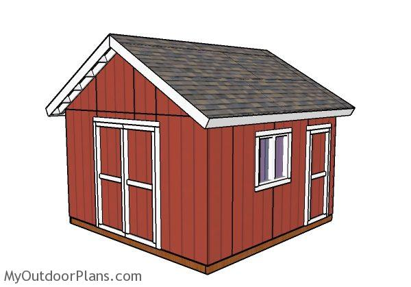 14x14 Shed Plans Myoutdoorplans Free Woodworking Plans