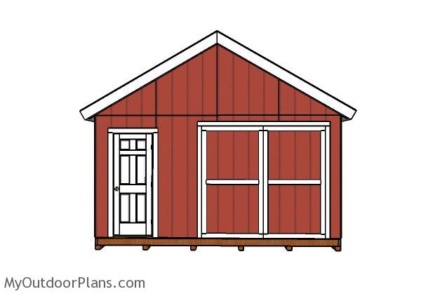 DIY Double Doors For A 16x24 Shed MyOutdoorPlans Free