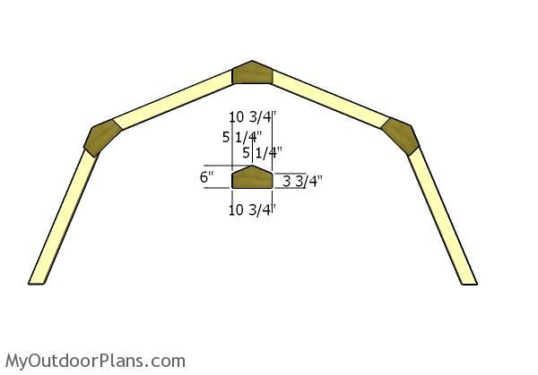 10x12 gambrel shed roof plans myoutdoorplans free, 10x12 pergola roof plans