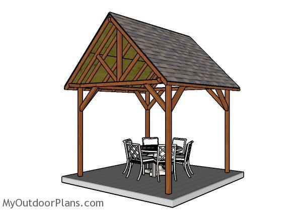 10x10 Pavilion Plans Myoutdoorplans Free Woodworking
